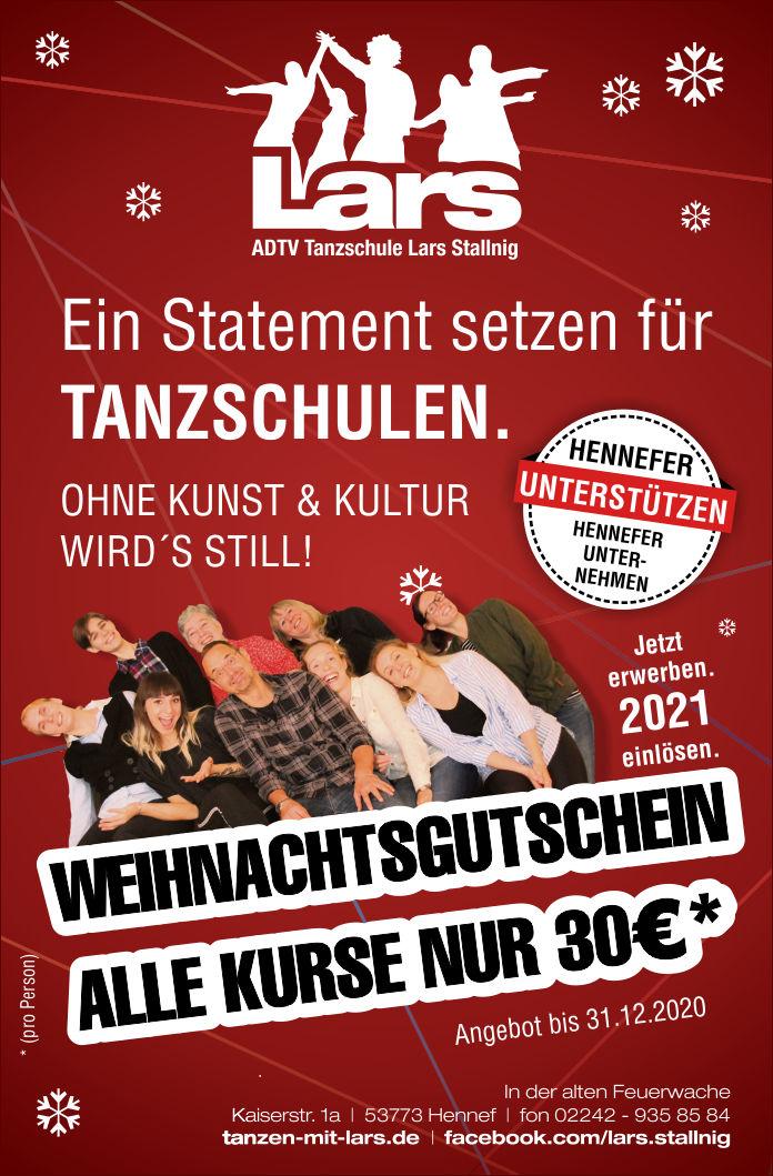 Tanzen mit Lars - Tanz- Gutschein 2020